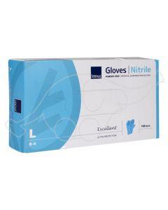 Nitriilkinnas puudrivaba L/8-9 sinine 100 tk/karp