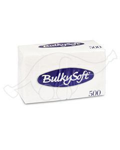 BulkySoft salvrätik 24x24cm, 1-kihil, valge, 3000tk/k