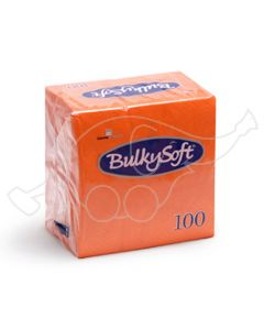 BulkySoft salvrätik 24x24cm, 2-kihil, oranz 3000tk/k