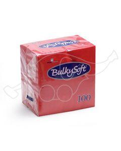 BulkySoft salvrätik 24x24cm, 2-kihil, punane 3000tk/k