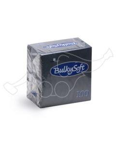 BulkySoft salvrätik 24x24cm, 2-kihil, must 3000tk/k