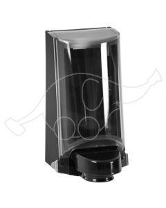 Sterisol hoidja 0,7L must / läbipaistev kaas