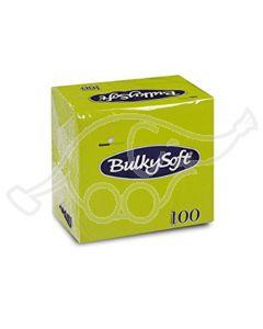 BulkySoft salvrätik 24x24cm, 2-kihil, kiivi 3000tk/kastis
