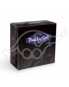 BulkySoft salvrätik 38x38 Plus 2-kih. must1440tk/kastis