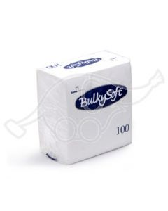 BulkySoft salvrätik 24x24cm, 2-kihil, 1/4 valge, 3000tk/k