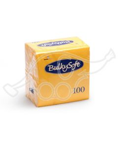 BulkySoft salvrätik 24x24cm, 2-kihil, kollane 3000tk/k