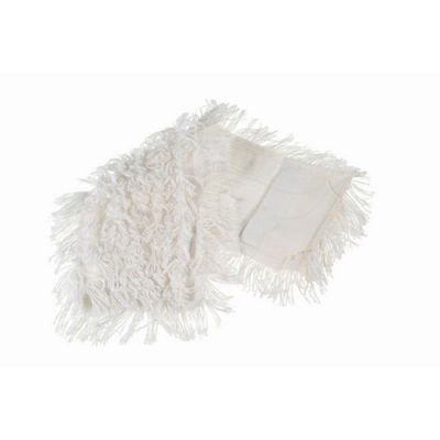 Flat mop polyester/cotton 40x13cm with pockets, white