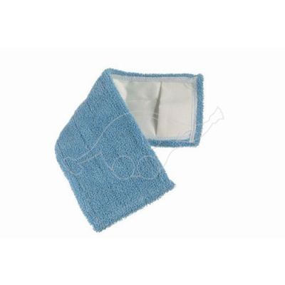Flat microblue mop 40x13cm with pockets