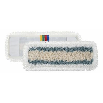 Wet micro/pol/cotton mop 50x16cm  with pockets, looped ends