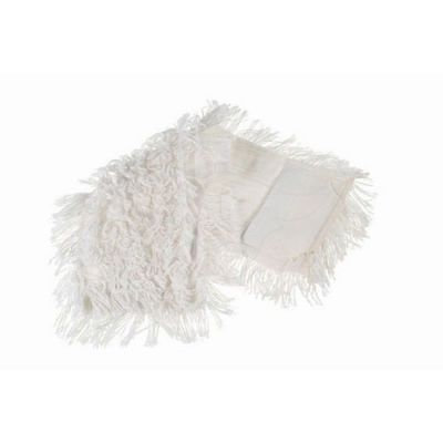 Flat mop polyester/cotton 50x16cm with pockets, White