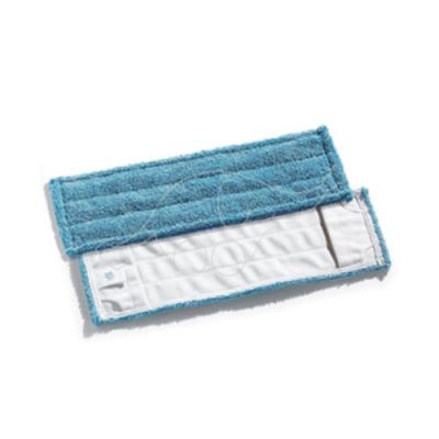 Flat microblue mop 50x16cm with pockets