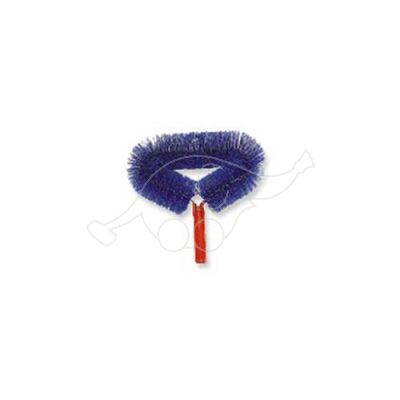 Rounded web brush for telescopic handle