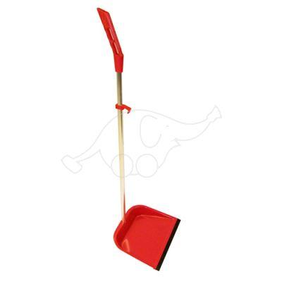 Dust pan Standard adjustable red