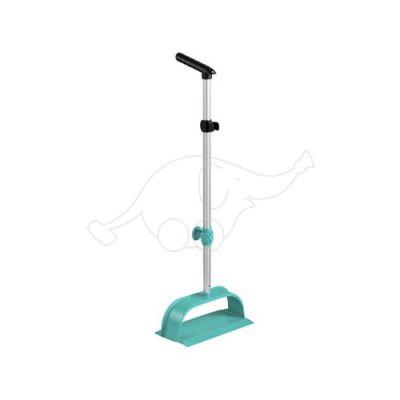 Plastic dust pan w/handle, grip & hook (bag 43054)