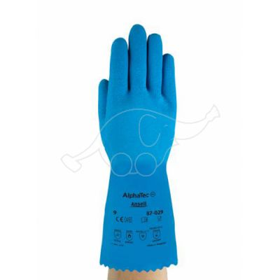 Latex glove AlphaTec 87029 M/8 (Astroflex), blue