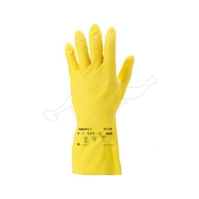 AlphaTec 87-190 latex glove S/6,5-7, Yellow