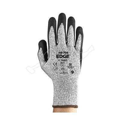 Nitriilkihiga nailonkinnas Edge 48-706  L/9 Ansell