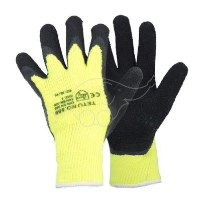 Latex layered warm glove     M/8 yellow/black