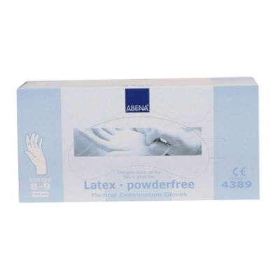 Abena latex glove L/8-9 powderfree 100 pc/pack, neutral