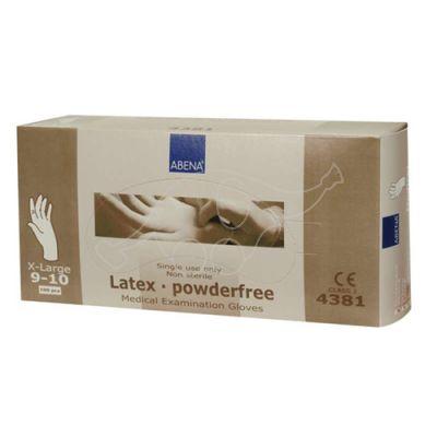 Abena latex glove XL/9-10 powderfree 100 pc/pack, neutral