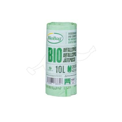Garbage bag BioBag compostable 10L 20pcs/roll 42x54cm 15mic