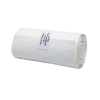 Garbage bag 28L HD white 50pcs roll 500x560x0,014