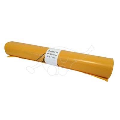 Garbage bag 30L yellow LD 30pcs/roll
