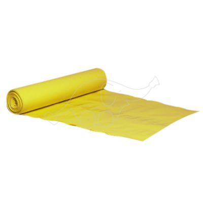 Garbage bag 40L YELLOW LLDPE 55x80cm 35 mic