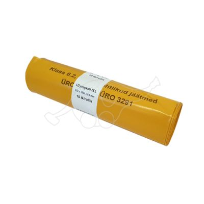 Garbage bag 75L yellow LD 10pcs/roll