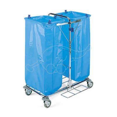 Recycling trolley Tecno 12 chromed 2x120L 57x83x105cm