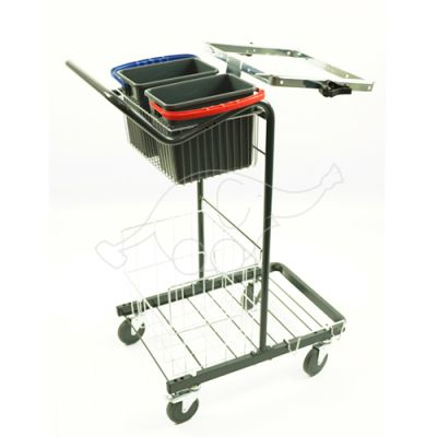 Cleaningtrolley Puhastus Small  2x6L buckets and basin
