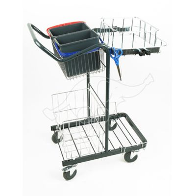 Cleaningtrolley Puhastus Small with Longopac Midi frame