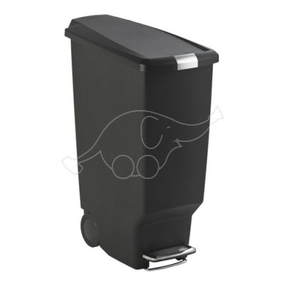 Step-On container 40L black