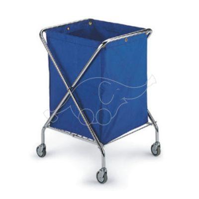 Pesukogumiskäru Dust Export 150L, kroomitud raam, sinine tek