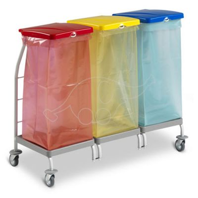 Waste collection trolley Dust 4164 3x70Lwithout lids and bag