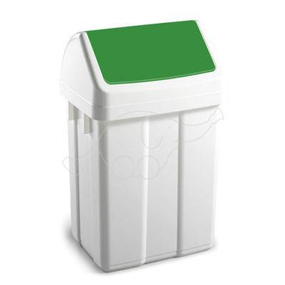 Dust bin Max 12L swing lid, white/ green