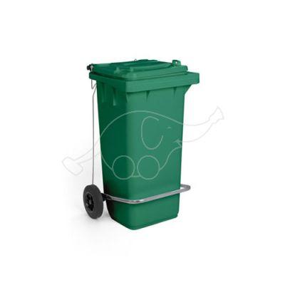 Waste bin lt.120 w/pedal and 2 wheels