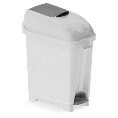 Plastic dust bin for toilets Elle 17L white