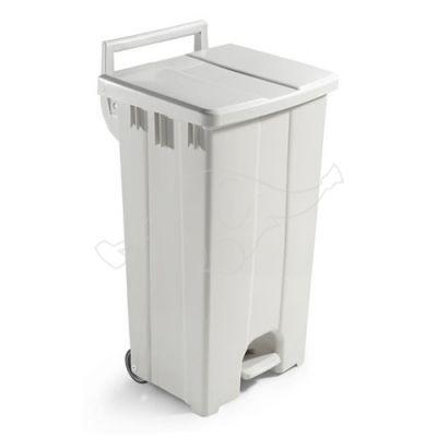 Derby bin 90L beige,white lid