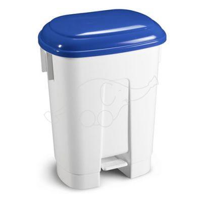 Bin Derby 60 L with pedal and blue lid