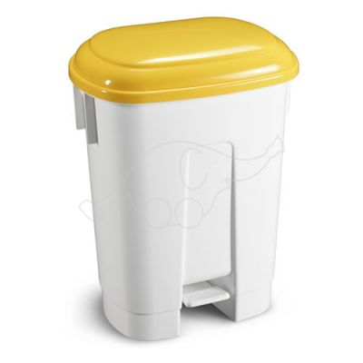 Bin Derby 60 L with pedal and yellow lid