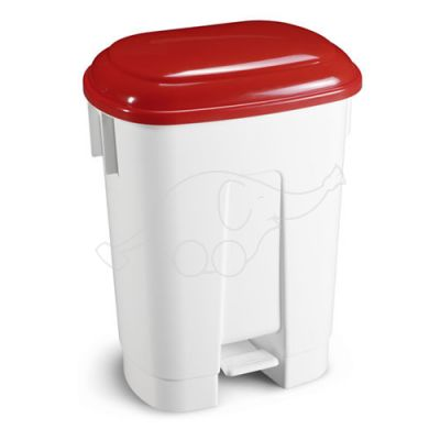 Bin Derby 60 L with pedal and red lid