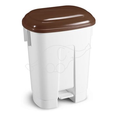 Bin Derby 60 L with pedal and brown lid