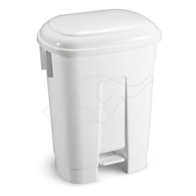Bin Derby 60 L with pedal and white lid