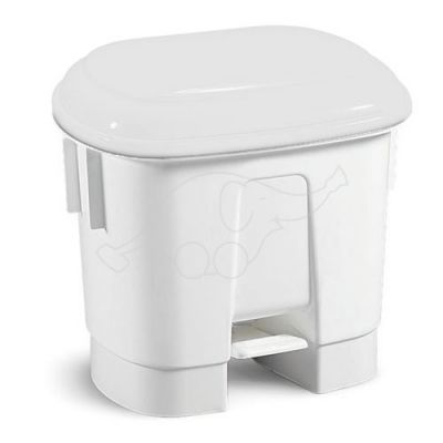 Bin Derby 30 L with pedal and white lid