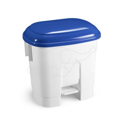 Bin Derby 30 L with pedal and blue lid