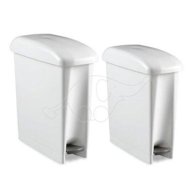 Bin Derby 17 L sanitary with pedal, white