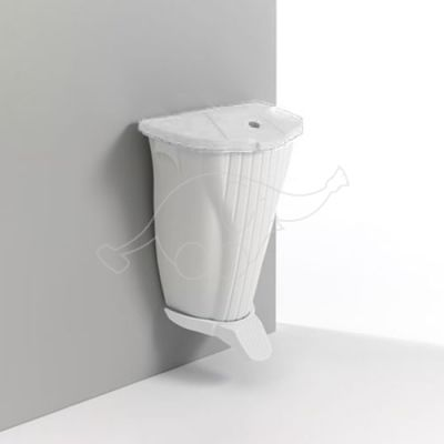 Wall-Up bin 50L with lid and pedal, white/white