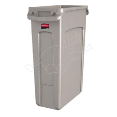 Rubbermaid 87L Slim Jim with venting channels light grey