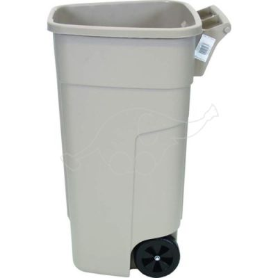 Garbage can Rubbermaid 100L without lid, beige